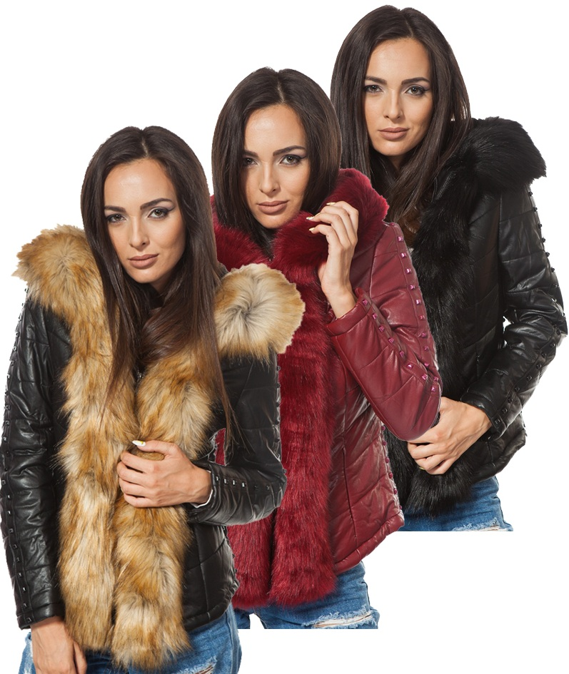 Дамско кожено яке - 4011 - Leks.bg