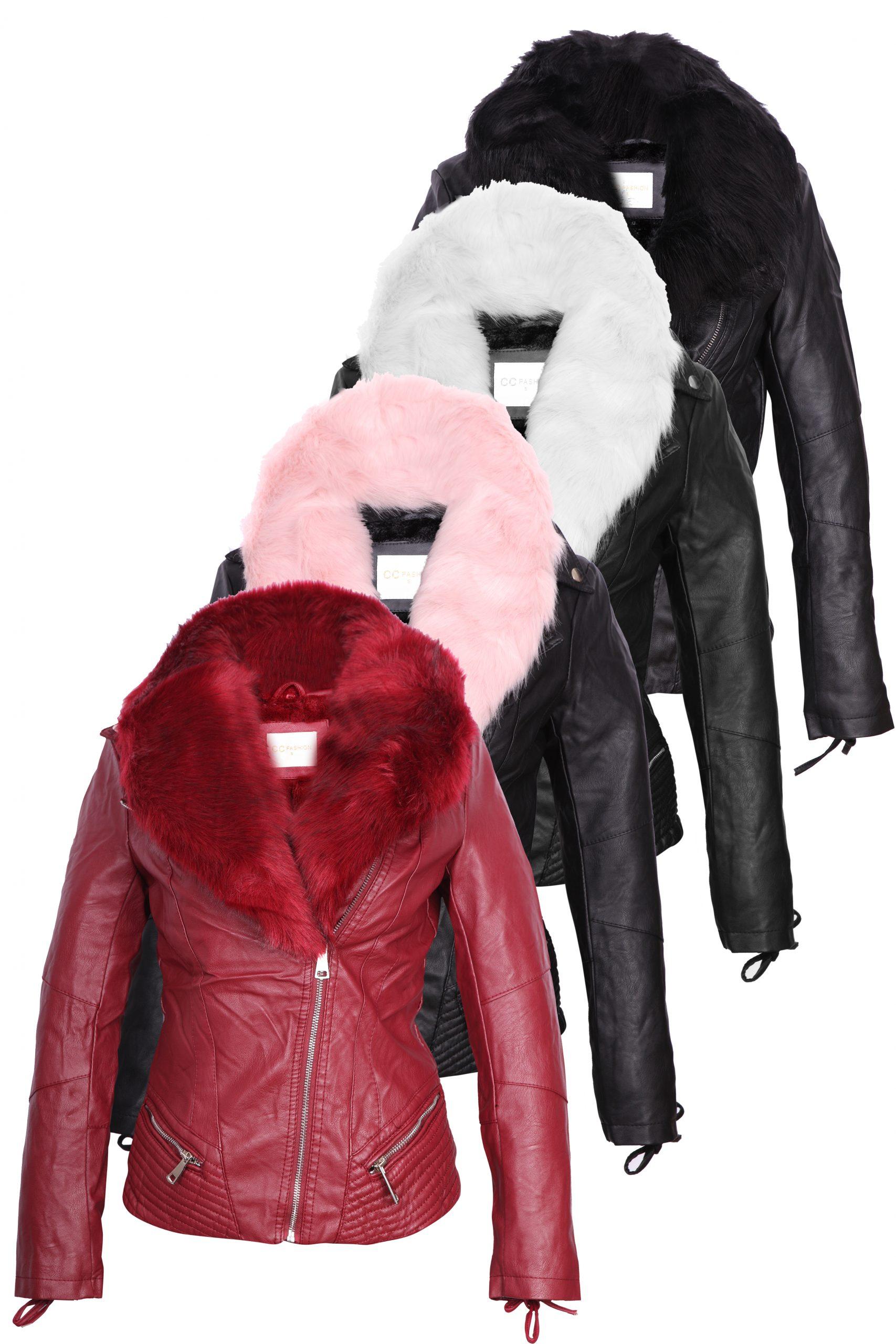 Дамско кожено яке  - P3103 - Leks.bg